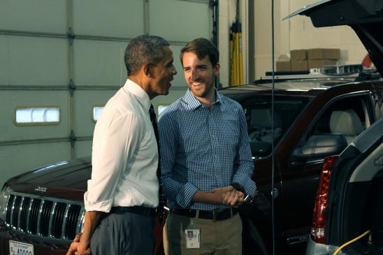 UCF Student and President Obama Talk Highway Safety, Innovation