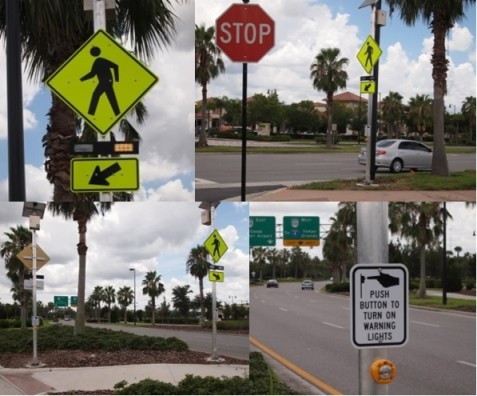 New Flashing Signs Added to Rosen College Crosswalk on Universal Blvd.