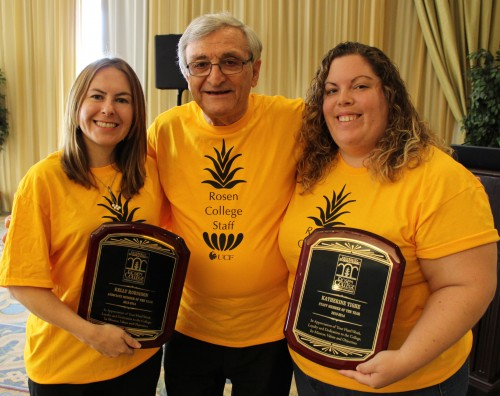 Outstanding Staff Members Recognized at Rosen College Retreat