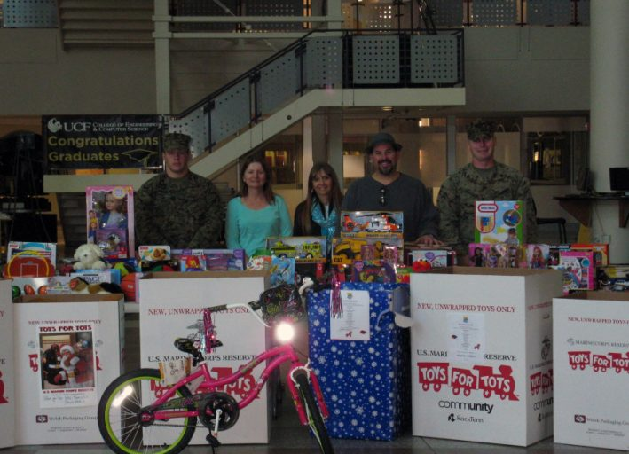Twenty colleges, departments and registered student organizations collected 886 toys in support of Toys for Tots.