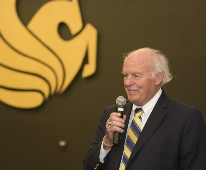 Noted Philanthropist Speaks to Students About Becoming Inspirational Teachers