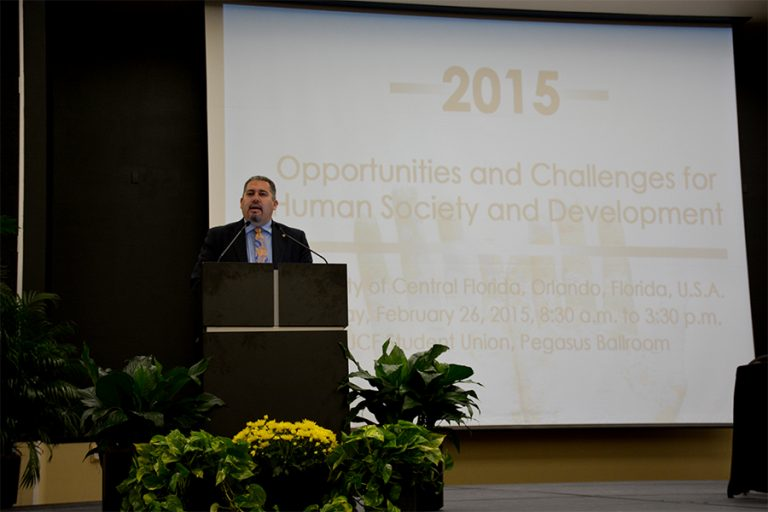 David M. Luna, of the U.S. Department of State, opened the summit with an assessment of global challenges.