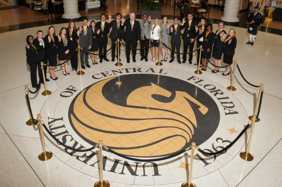 19 Inducted into Order of Pegasus — Highest UCF Student Honor