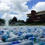 UCF Fills Reflecting Pond With Thousands of Water Bottles to Celebrate Earth Day