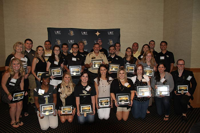 The UCF Alumni Association hosted the chairs of its college, regional and special interest chapters and clubs during the annual AlumKnights of the Roundtable: 2015 Chapter & Club Council meeting on Saturday.