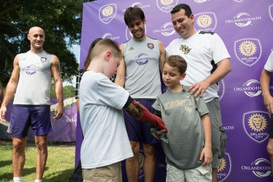 UCF, Orlando City Soccer Club Give Brazilian Boy Bionic Arm