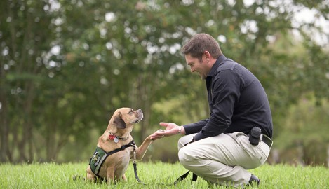 UCF Grad and Canine Companion Are Combatting Child Abuse