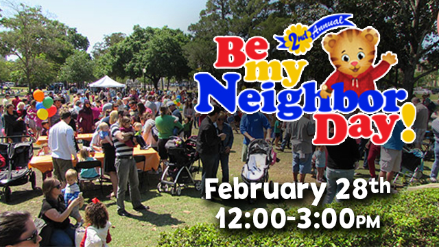 Be My Neighbor Day flyer