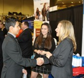 Students Use Technology to Navigate Career Expo