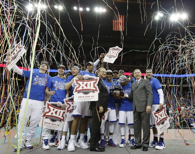 Big XII champion Kansas is one of 11 teams competing in the men's basketball tournament with a 100 percent Graduation Success Rate. (Photo: Jeff Jacobsen)