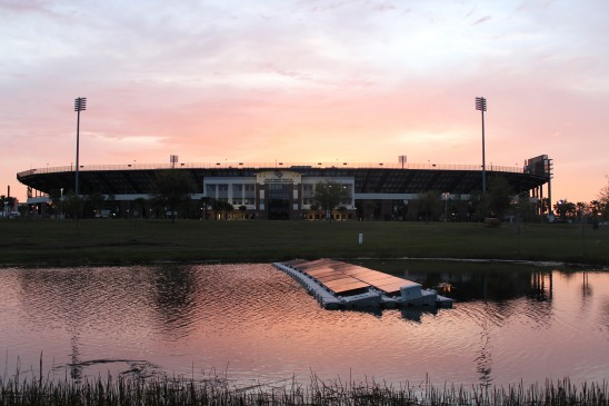 Engineering Students Design, Launch Floating Solar Farm at UCF