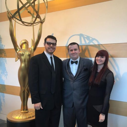 Ramsey Khawaja, Derek Loucks and Kristina League represented their UCF classmates at the 2016 College Television Awards.