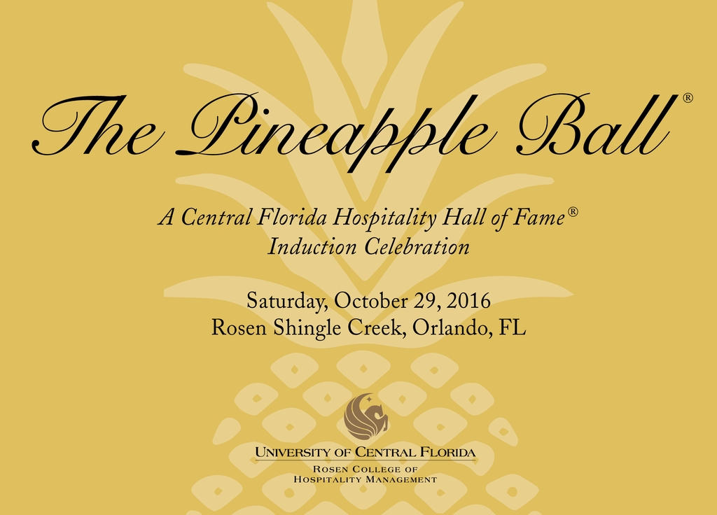 Feed image for Bill Davis, Kathie Canning to be Inducted into Central Florida Hospitality Hall of Fame®