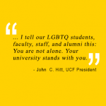 President Hitt: UCF Stands with Orlando Against Terror