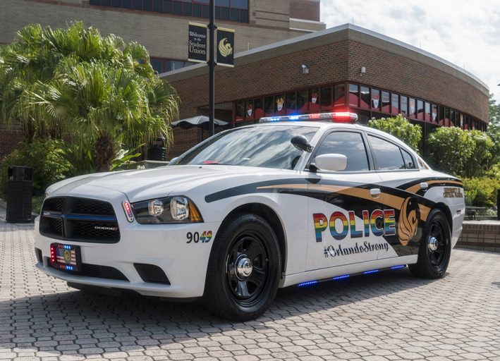 Cpl. Peter Osterrieder will be driving UCFPD's new Pride car.
