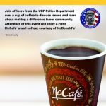 UCFPD, McDonald's Partner for Coffee With A Cop