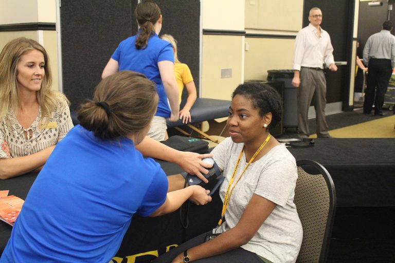 Students can get a free flu shot at the Healthy Knights Expo.