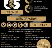 It's On Us Week of Action: October 24 – 27