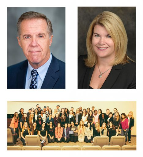Professors Michael Crary and Jennifer Kent-Walsh and the 2015-16 UCF NSSLHA members