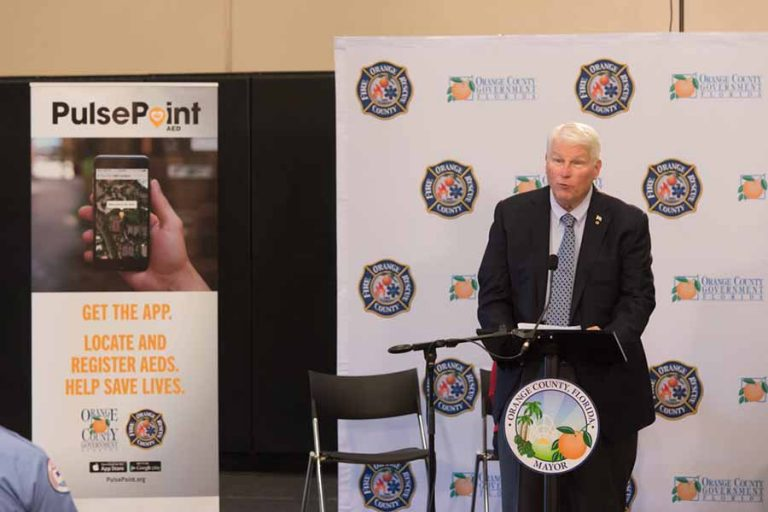 President John C. Hitt joined leaders from Orange County to publicly launch the lifesaving PulsePoint mobile apps.