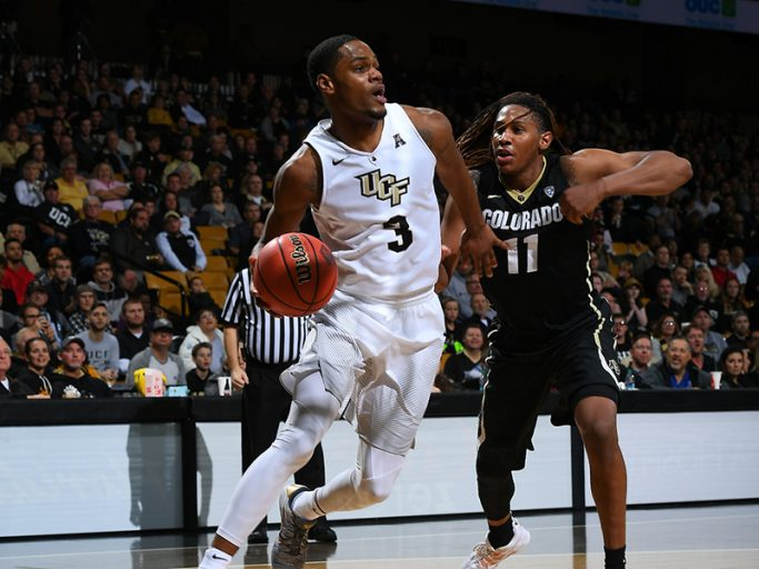 A.J. Davis helped the Knights win their first NIT Tournament victory on his birthday.
