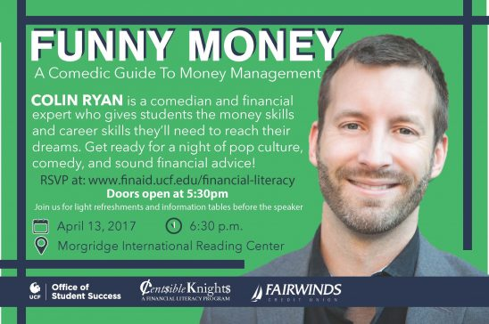 come talk about funny money thursday university of central florida