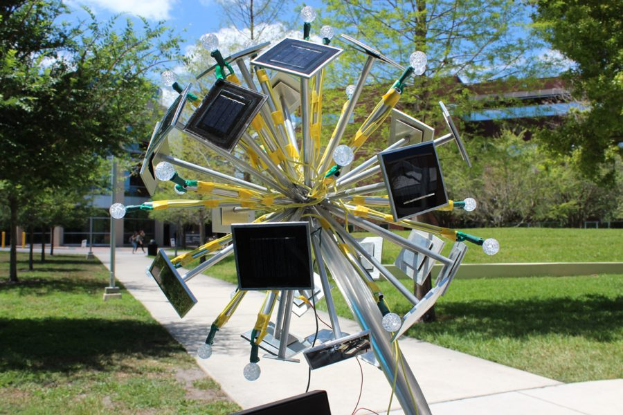 Solar Powered Art Sculptures Sea Turtle Tracking Drones