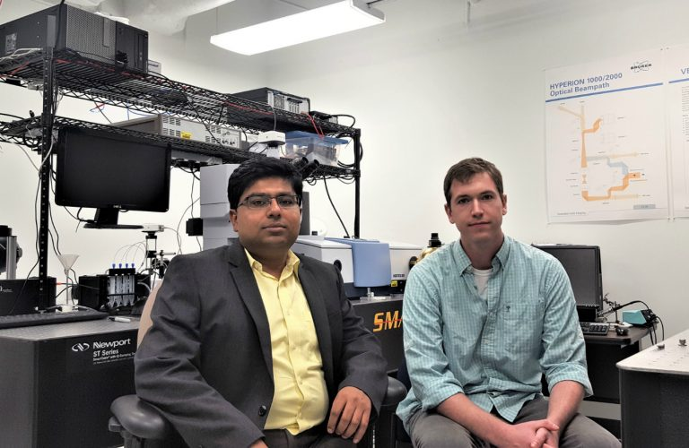University of Central Florida Assistant Professor Debashis Chanda and physics PhD student Daniel Franklin have made a breakthrough that could produce much higher resolution for TVs, smartphones and other video screens.