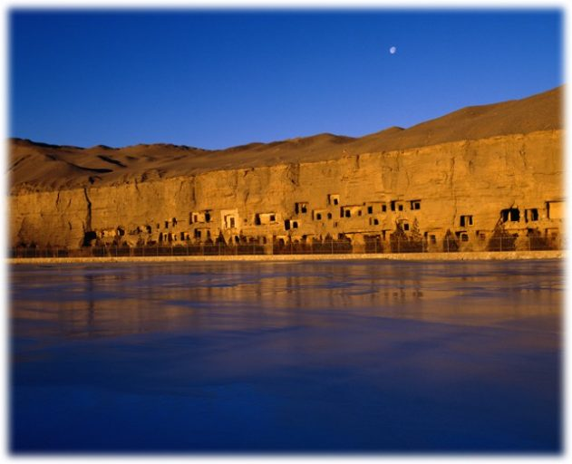 The Mogao Caves in China. (Photo courtesy of Sun Zhijun, Dunhuang Research Academy)