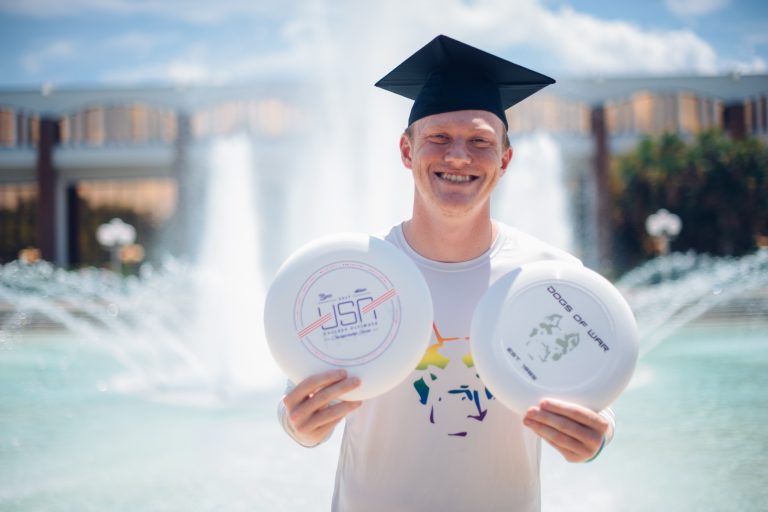 Michael Fairley will compete on a national Ultimate Frisbee team at an upcoming world championship tournament. Credit: Rhiana Raymundo Photography.