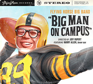 big man on campus cover with old school football player