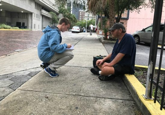 Rather than Evacuate, Students Stay Behind to Warn Homeless About Hurricane