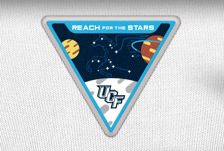 Space-Themed Patch for UCF football game