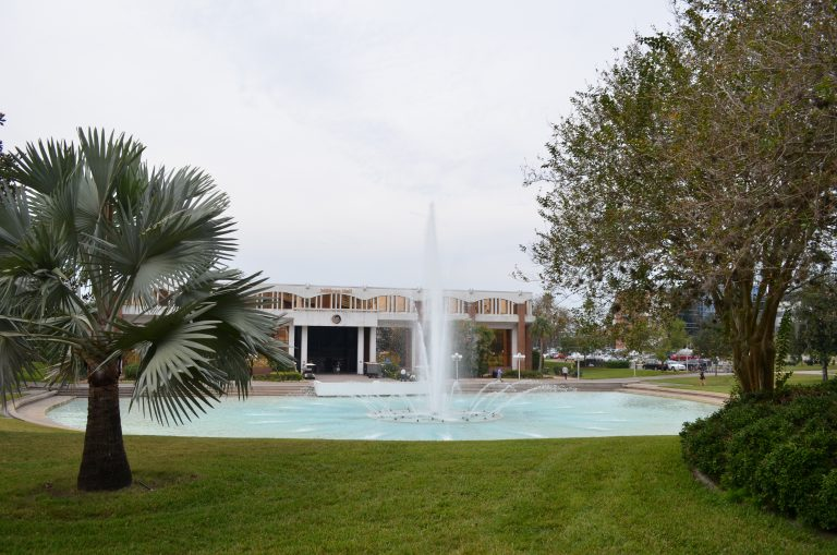UCF Reflecting Pond and Millican Hall (administration offices)