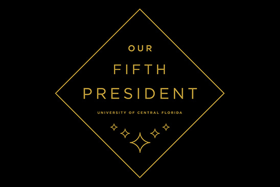 our fifth president logo