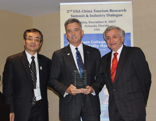 Brand USA President, China Tourism Leader Honored During Summit at Rosen College