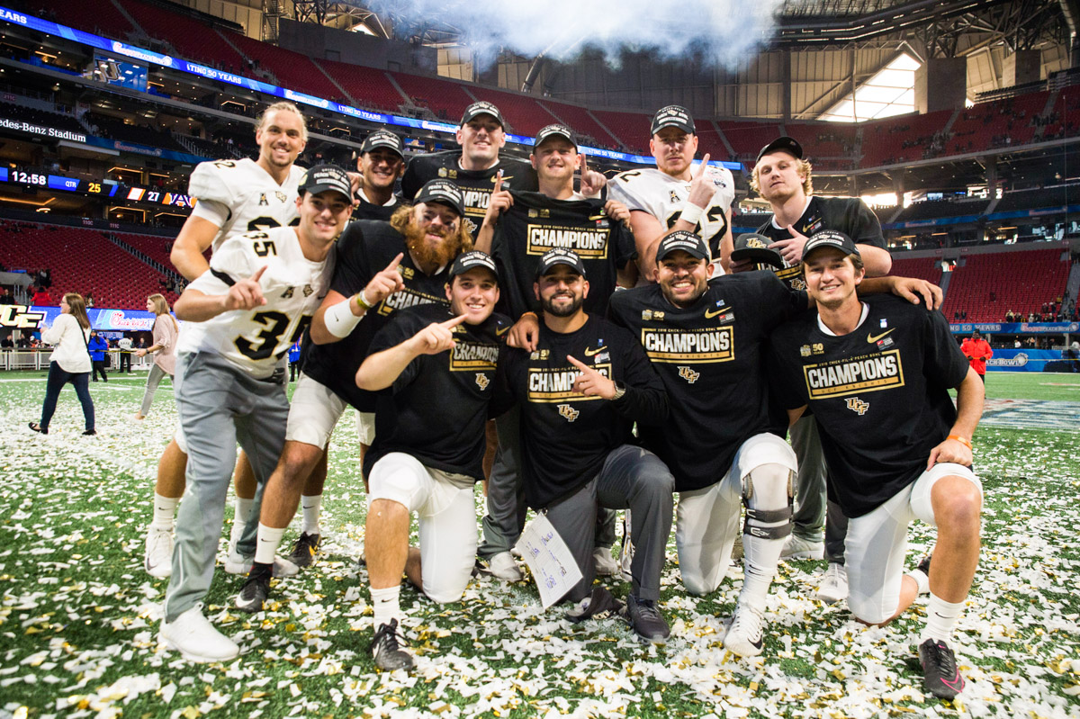 Ucf Football Scott Frost >> PHOTOS: UCF Defeats Auburn to Win Peach Bowl - University of Central Florida News | UCF Today