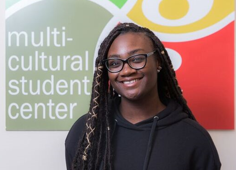 Jazmyne Burroughs at the Multicultural Student Center