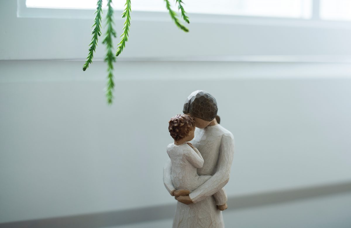Figurine of mother and child.