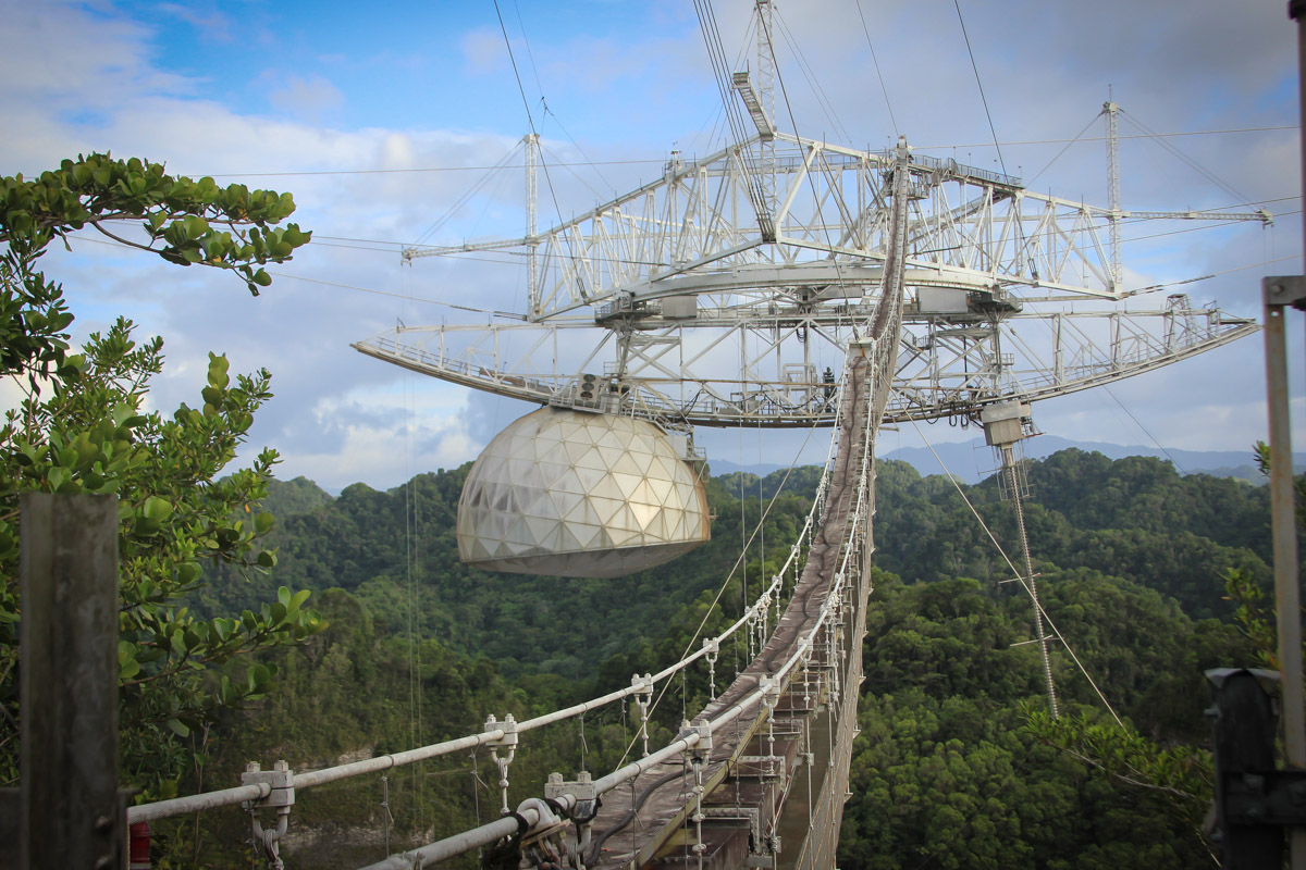 "AO is one of the most important national centers for radio astronomy, planetary radar and ionospheric science. (Image courtesy of Arecibo Observatory, a facility of the NSF)<span style=""font-size: 16px;""> </span>"