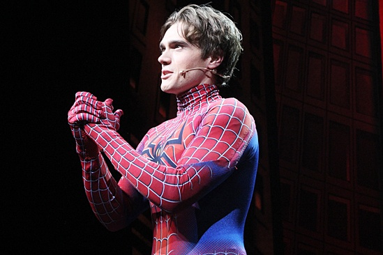 Justin Sargent in Spider-Man costume