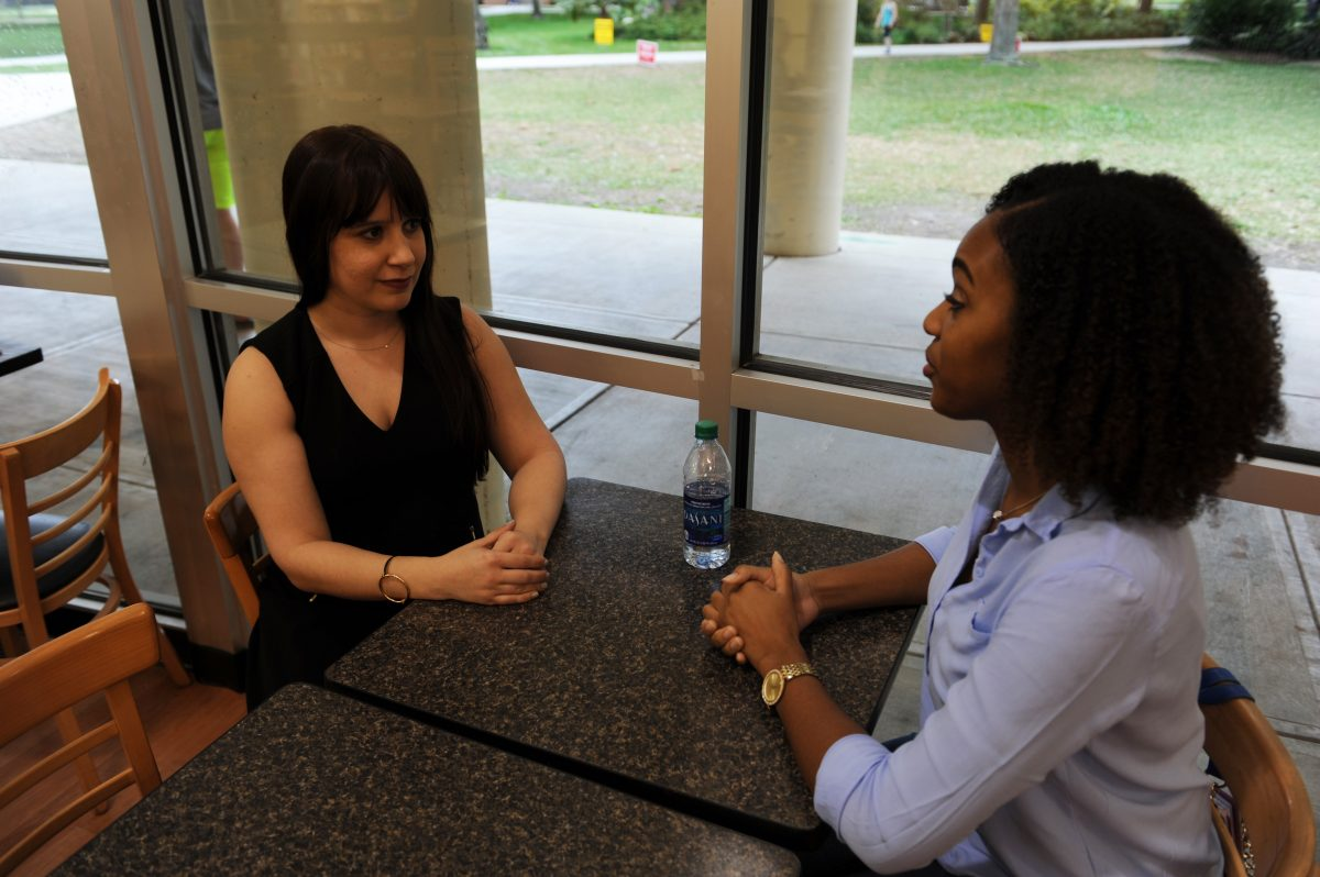 Jennifer Sanguiliano and Rachael Mack are both students in the doctoral program in public affairs.