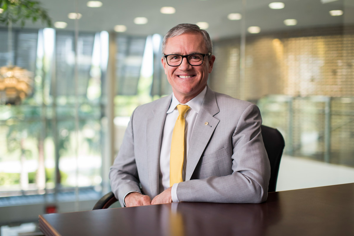 Whittaker has served as UCF's provost since fall 2014. He holds a master's degree and Ph.D. in agricultural engineering from Purdue and a bachelor's in the same field from Texas A&M University. (Photo by Nick Leyva '15)
