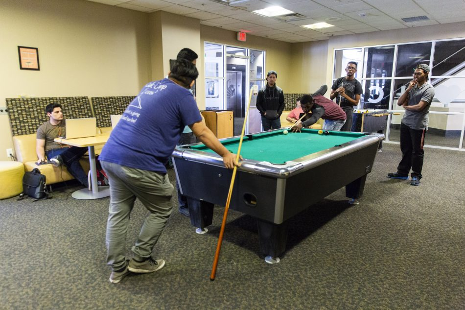 Grab a couple friends for a game of pool or air hockey in the Student Union's game room located on the third floor.