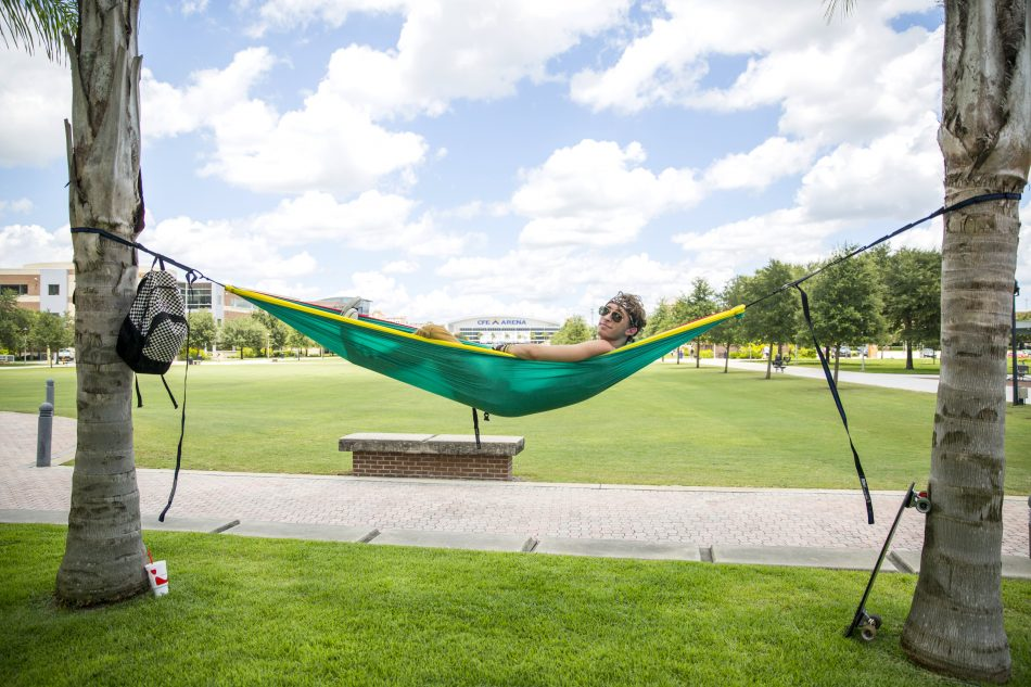 Take advantage of the palm trees on Memory Mall by bringing along a hammock and relaxing in the shade.
