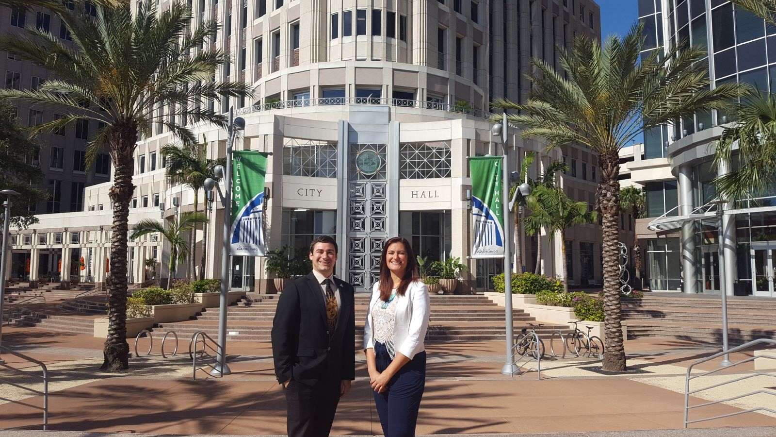 Chris Castro '10 and Brittany Sellers '13MA '16PhD are two of several Knights working to make Orlando one of the most environmentally friendly cities through the Green Works Initiative.