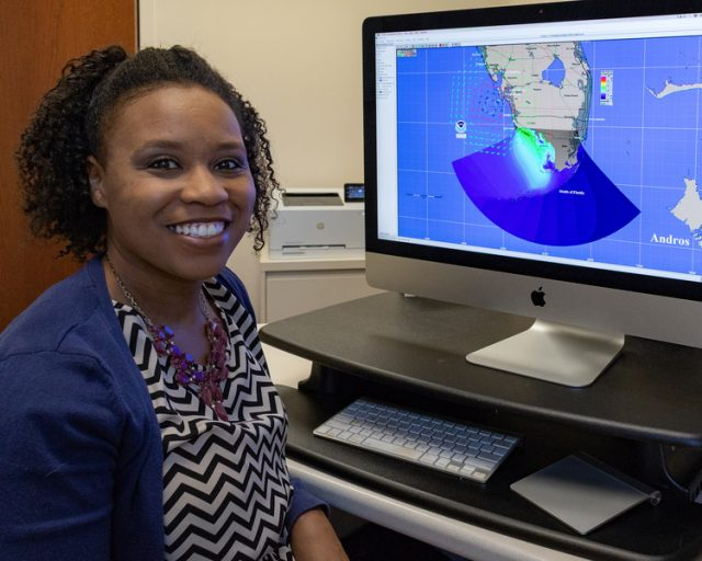 UCF engineering Assistant Professor Talea Mayo will showcase her work about coastal flooding today during the Coalition for National Science Funding's 24thannual Capitol Hill Exhibition in Washington, D.C.