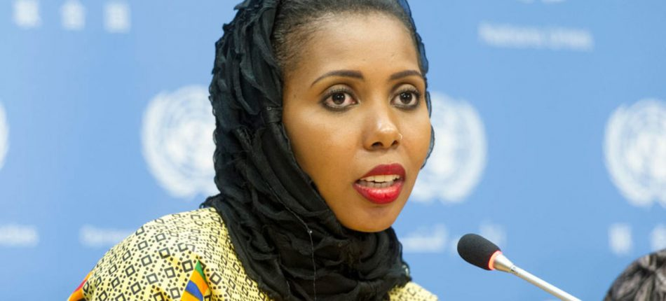 Dukureh travels frequently to promote her cause and hopes to reach the U.N.'s goal of ensuring global abandonment of female genital mutilation by 2030. (Photo by UN News/ Mark Garten)