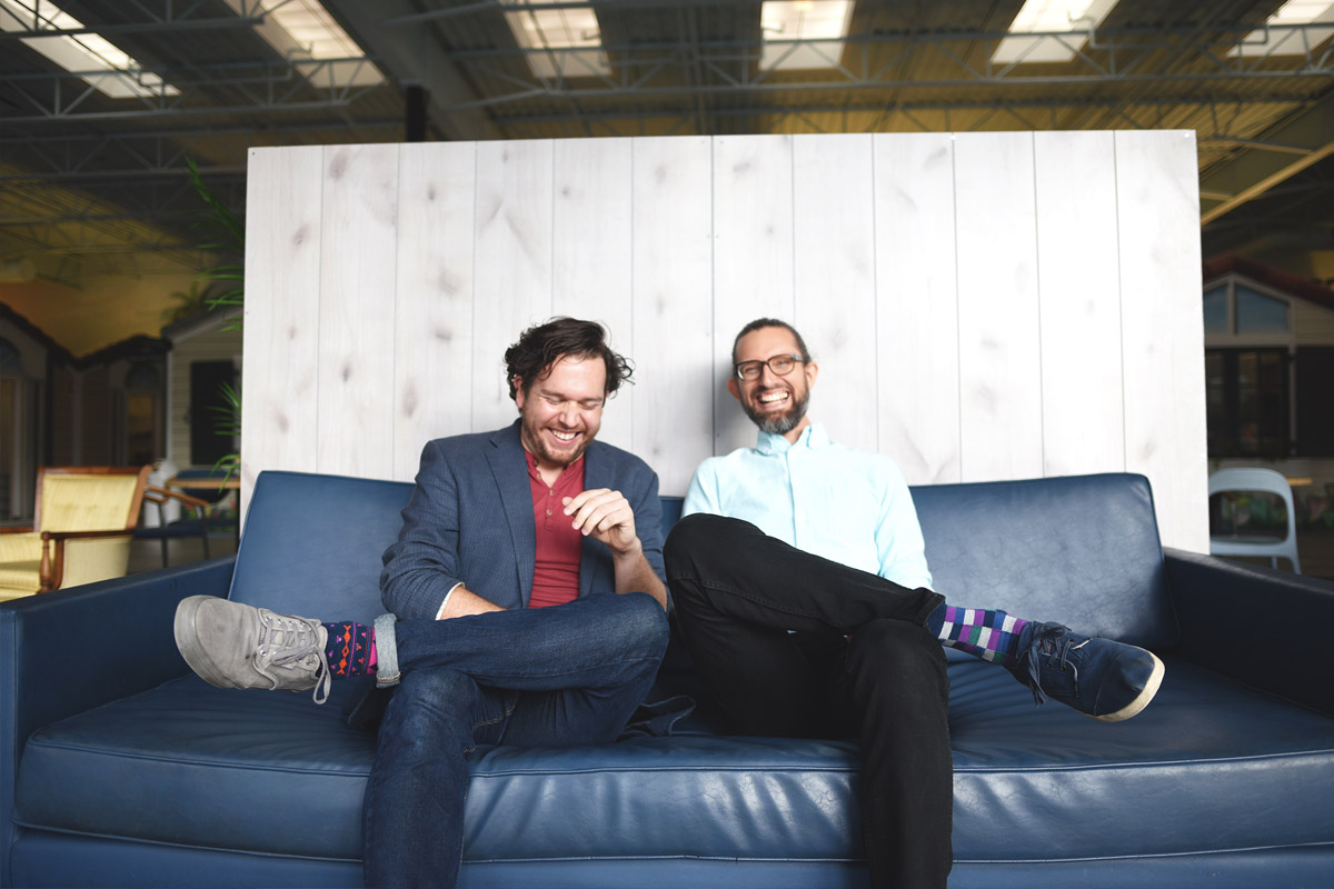 David Thomas Moran and Nathan Selikoff launched their Omnimodal startup last year. (Photo by John Paul Soto)
