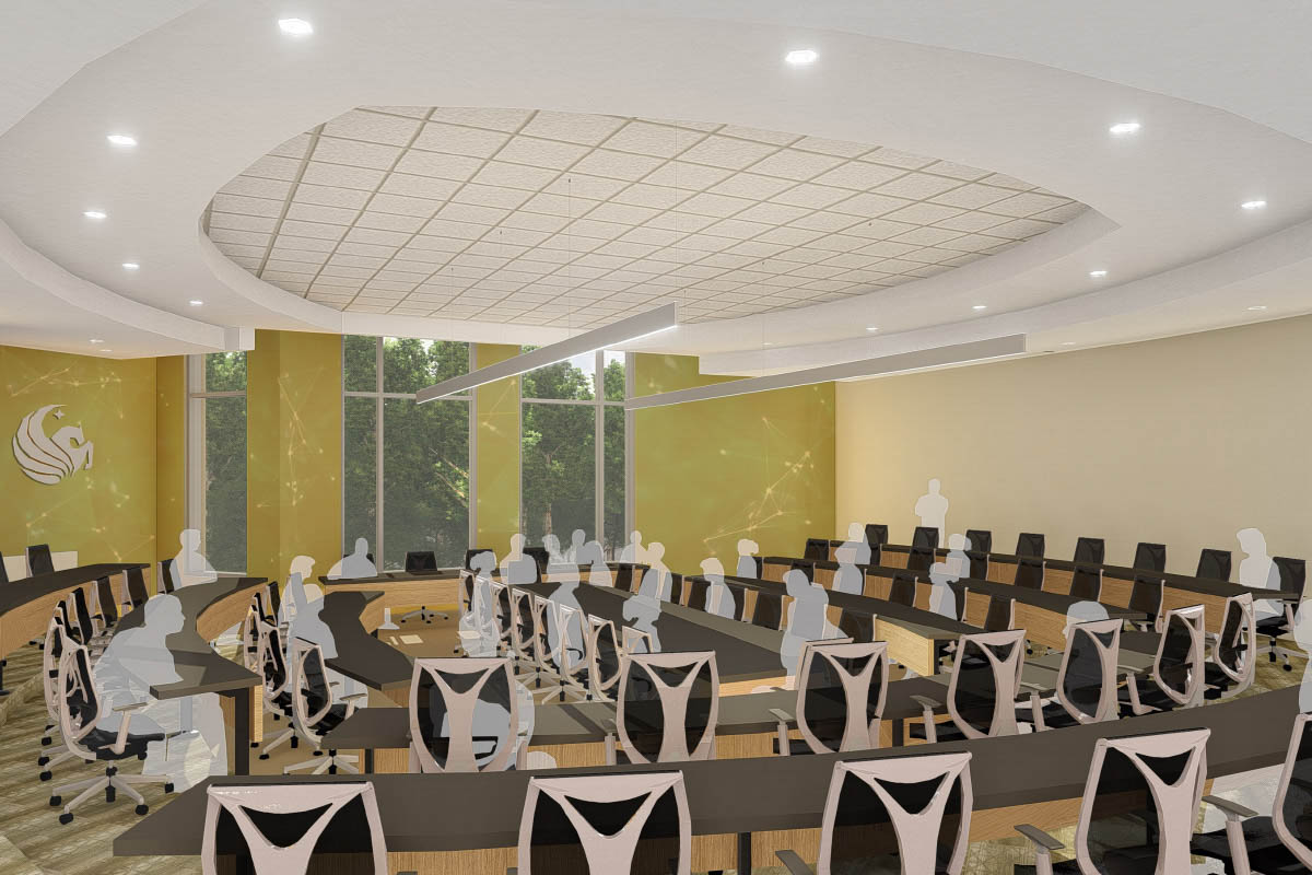 ucf student union university's first dedicated space for senate chambers for students and faculty that will include a permanent electronic voting system as well as state-of-the-art projection and sound systems
